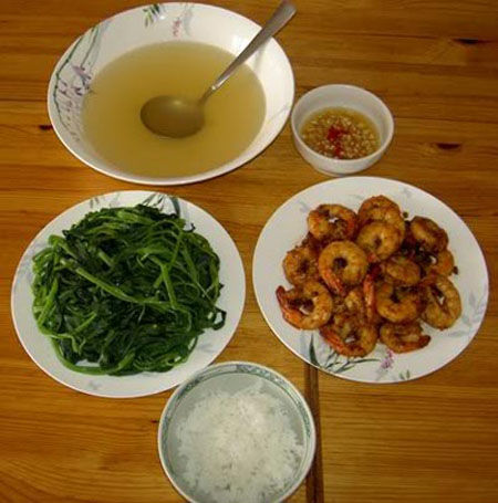 Vietnamese typical meal