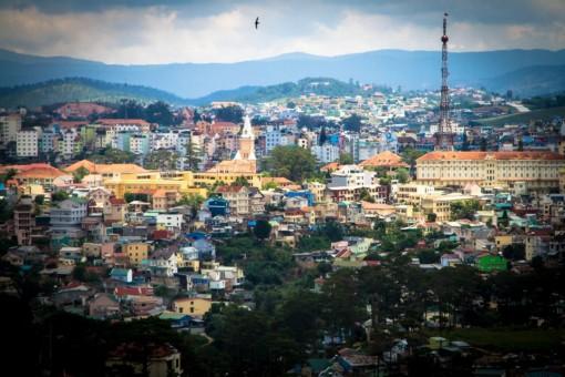 Dalat city in Vietnam